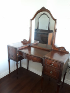 Antique Vanity desk with a matching table