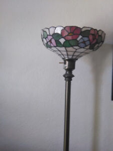real beautiful staind  glass lamps
