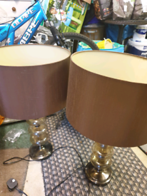 2 x Large Table lamps