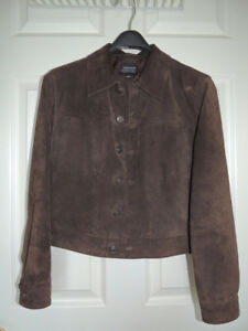 Women Genuine Brown Suede Jacket with Lining XS