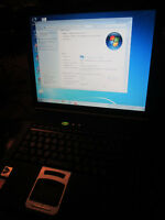 "LAPTOP 15"", W7 FAMILIAL, WIFI, DVD-ROM, ETC..."
