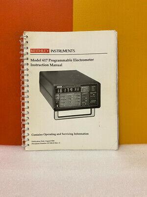 Keithley 617-901-01 Rev.g Model 617 Programmable Electrometer Instruction Manual