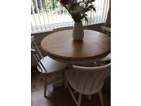 Dining Table and 4 Chairs in Shabby Chic (Newly Refurbished like new condition)