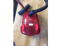 Philips EasyLife Vacuum cleaner, Carpet, Hard floor, Red, HEPA)