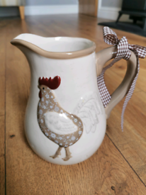 Clucky Jug and Hen Ornaments