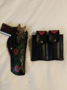 Genuine Leather Holster - 1911 Style with Thumb Strap