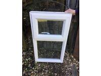 2 White UPVC Doubled Glazed Windows