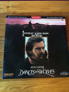Dances With Wolves Laserdisc-2 disc set-Excellent + Topaz laserd