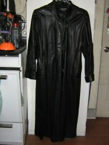 full length leather coat with liner