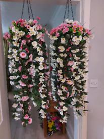 Artificial Flower Hanging Baskets