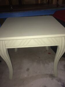 Shabby chic oak end table