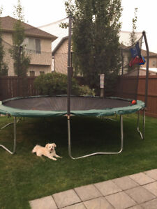 PERFECT BRAND NEW 15 foot trampoline less then 6 months old