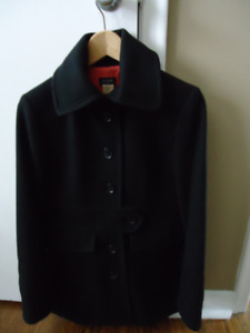 J.Crew Black Peacoat, size 4, excellent condition