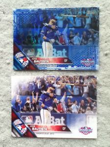 "Jose Bautista Blue Jays Topps ""Bat Flip"" cards in mint condition"