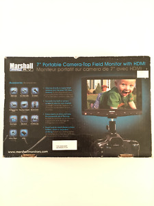 """7"""" Portable Camera Top-Field Monitor with HDMI by Marshall"""