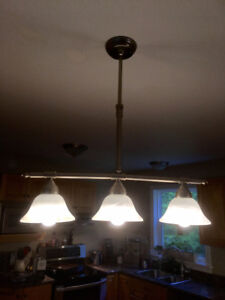 Kitchen pendant lighting, two separate fixtures