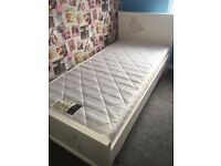 NEXT white wood diamonte butterfly single bed