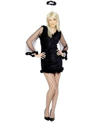 Dark Angel Kostüm Frauen Bösere Engel Größe M Damen Halloween Karneval 25622 ()