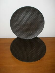 Basket Weave Charger Plates 13""