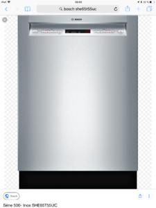 Lave-vaisselles Bosch Série-500 Inox SHE65T55UC