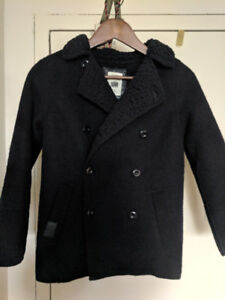 Zara Kids Wool Pea Coat - Boys size   11 -12