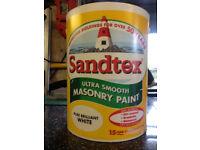 Sandtex Brilliant White Masonry paint