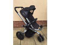 Quinny Buzz travel system with maxi cosi car seat and isofix
