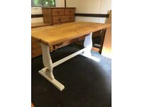 Chunky solid pine farmhouse table. Free delivery