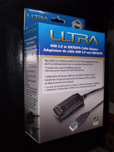 Ultra USB 2.0 to IDE/SATA Cable Adapter NEW