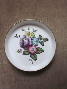 3 UNIQUE Collectable Royal Worcester Hand Painted Coaster & Dish