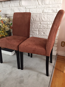FS: Brand New Dining Chairs (Microfiber, Set of 2)