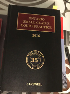 Ontario Small Claims Court Practice by Zucker