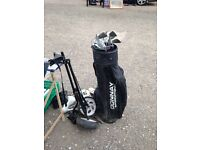 Donnay golf clubs and wheels