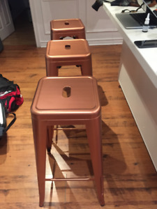"""2 Bar Stool- Metal stool - 30""""- copper colour - tolix style- new"""
