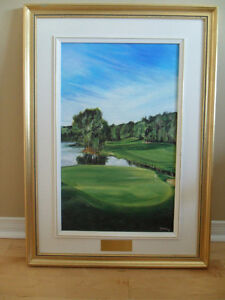 Toile authentique de Germain Gratton-L'artiste du golf.