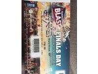 2 T20 Blast Finals Day Tickets