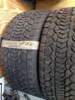 265/50 20 Dunlop Grantrek winter tires