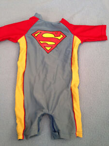 3-6 adorable superman swim/sun suit