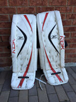 Hockey goalie pads and gloves