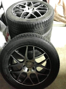 Genesis Coupe Winter Tires Michelin XIce Xi3 on Alloy Fast Rims