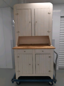 Antiques hutch, solid wood, NS made.