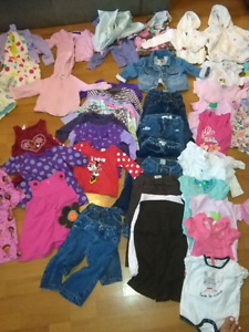 Baby clothes they range from 3-6 months 6-9 months 12-24 months