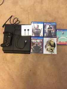 Playstation 4 500gb (four games included)