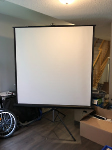"HON 60"" x 60""  portable projection screen"