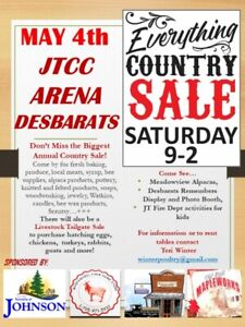 MAY 4 9-2 EVERYTHING COUNTRY SALE - Desbarats