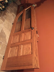 Solid Oak Curved French Doors
