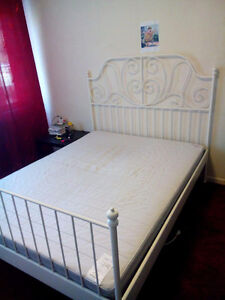 Two month used double bed with matress