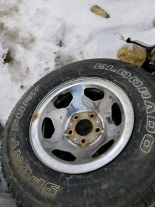 Chevy 5 bolt rims nd tired if you want them