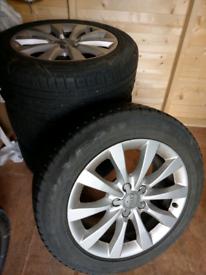 "Original Audi A6 C7 S LINE 17"" ALLOY WHEELS 4 SEASON TYRES"