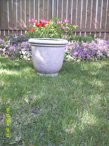 MEDIUM SIZED STONE COLORED PLANTER FOR SALE AND OTHER POTS
